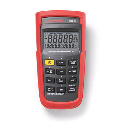 Amprobe Tmd-53 Kj Type Dual Input Thermocouple Thermometer