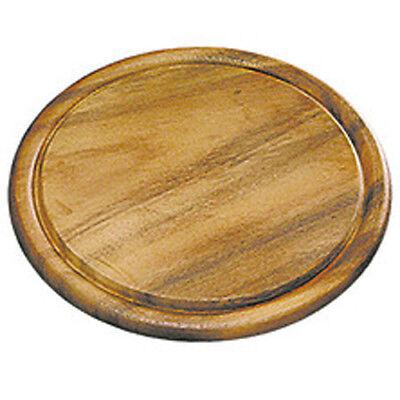 Holz Fleischteller Akazie rund 25 x 1,5cm Schneidebrett Servierteller (Holz-fleisch Schneidebrett)