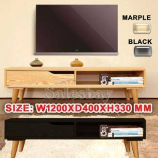 Wooden TV Stand Entertainment Unit 120CM Cabinet Plasma Lowline