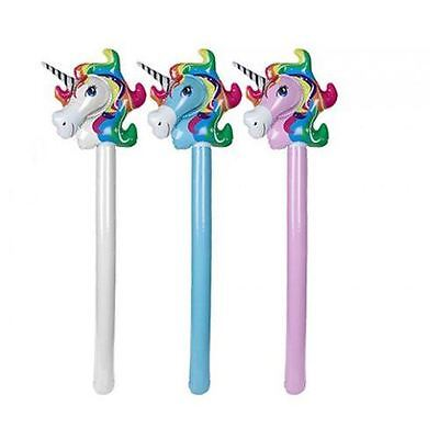 "42"" Large Inflatable Unicorn Basher Stick Hammer Childrens Kids Party Toys"