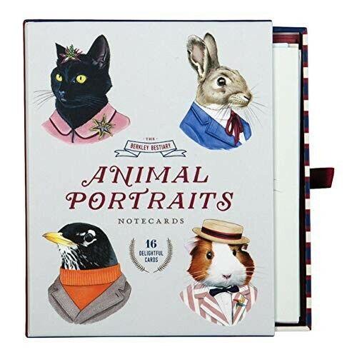Berkley Bestiary Animal Portrait Greeting Card Assortment by Galison (2017,...