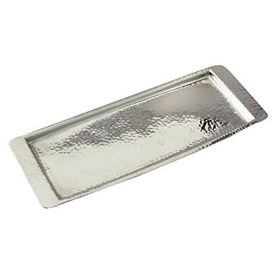 Elegance Stainless Steel Hammered Rectangular Tray, Small, 13.75 by 4.5-Inch,...