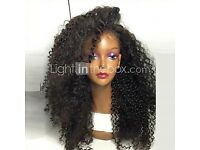 Glamorous, natural WIG for sale. Kinky curly with baby hairs