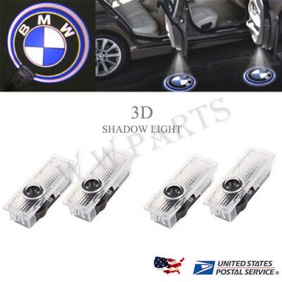 4 For BMW Logo LED Step Door Courtesy Welcome Ghost Shadow Laser Projector Light