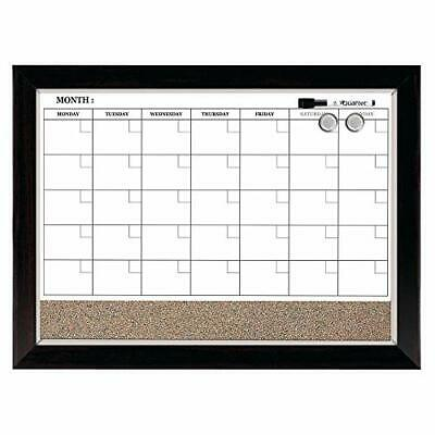 Quartet Combination Magnetic Whiteboard Calendar Corkboard 17 X 23
