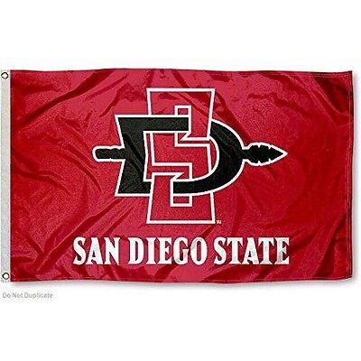 SDSU AZTECS FLAG LARGE 3X5 SAN DIEGO STATE UNIVERSITY: FREE SHIPPING (University Large Flag)