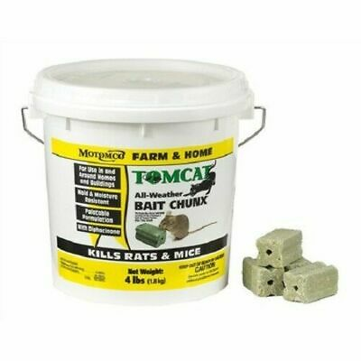 Motomco Tomcat Mouse & Rat All Weather Bait Chunx  4lbs Made in USA