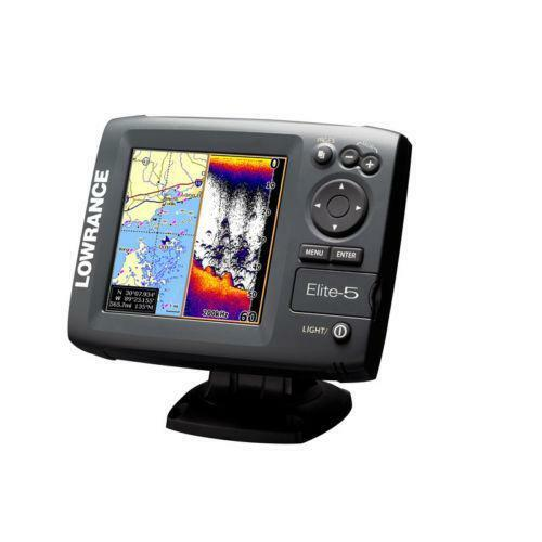 lowrance elite 5 combo ebay. Black Bedroom Furniture Sets. Home Design Ideas
