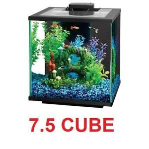 NEW CENTRAL AQUATICS 7.5 AQUARIUM 100526921 134990666 ISLAND LED 7.5 CUBE AQUARIUM KIT FISH
