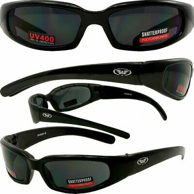 Global Vision Chicago Foam Padded Motorcycle Riding Sunglasses-Flash Mirror (Cheap Motorcycle Sunglasses)