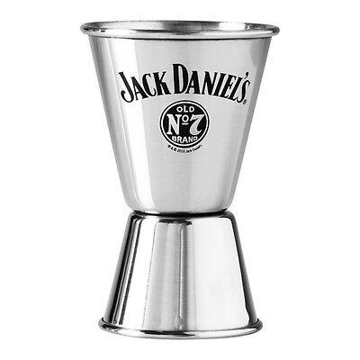 JACK DANIELS LOGO Double Spirit Jigger 15ml / 30ml Stainless Steel Gift Man Cave ()