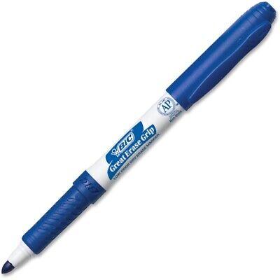 Bic Great Erase Whiteboard Marker, Fine Point, Blue , 12 Dry Erase -