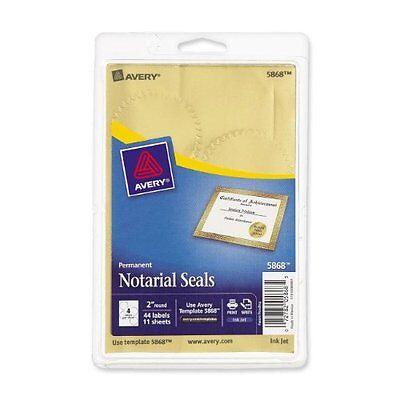 Avery Print Or Write Notarial Certificate Seal - Burst - 2 Diameter -