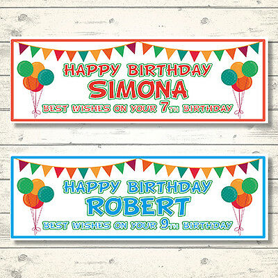 2 PERSONALISED BEST WISHES BIRTHDAY CELEBRATION BANNERS  - ANY (Best Birthday Banners)
