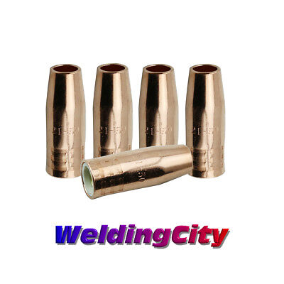 5-pk Mig Welding Gun Nozzle 21-50 12 For Lincoln Magnum 100l Tweco Mini1
