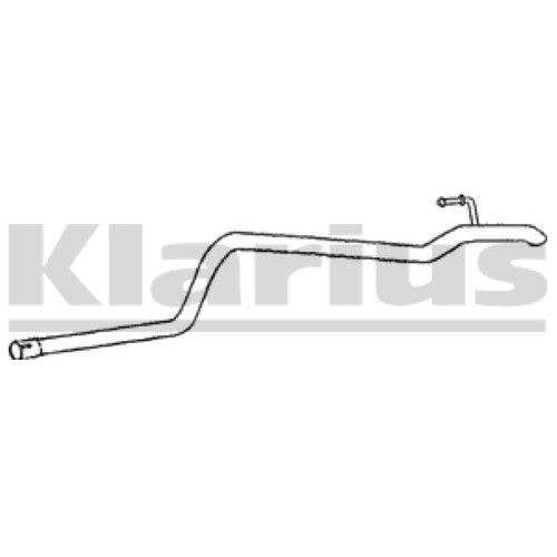 1x KLARIUS OE Quality Replacement Exhaust Pipe Exhaust For MERCEDES-BENZ Diesel
