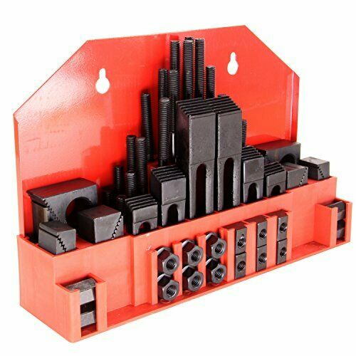 "HFS(R) 58Pc 5/8"" Slot 1/2""-13 Stud Hold Down Clamp Clamping Set Bridgeport Mill"