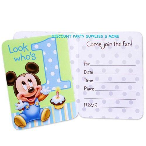 Minnie Mouse First Birthday Party Via Little Wish Parties: Mickey Mouse 1st Birthday Invitations