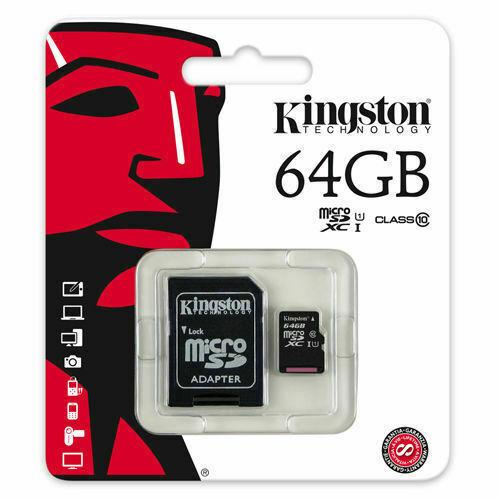 Kingston 64GB Micro SD HC SDXC Memory Card