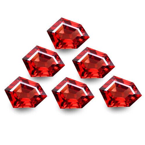 6.20Cts Ravishing Natural Red Garnet Fancy Shape 6pcs of Africa Gemstones Rf-VDO