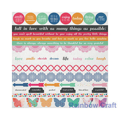 Kaisercraft 12x12 Sticker Sheet Collection Christmas theme 24 selections - Chase Rainbows