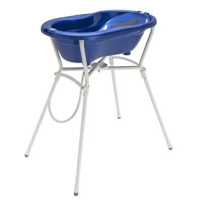 Rotho Ideal Badelösung Top With Foldable Bath Tub Stand - Royal Blue Pearl