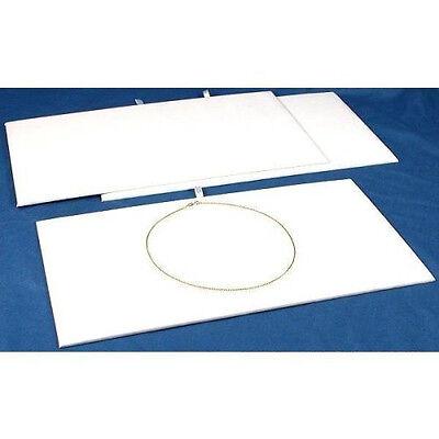 Jewelry Presentation Display Pad Insert White Velvet Fits Standard Trays