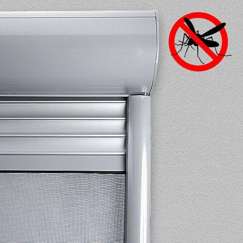 ALU Vorbaurolladen halbrund auf Maß mit Insektenschutzrollo Insektenschutz
