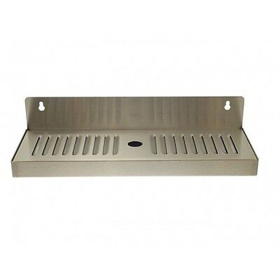 4 X 13 Stainless Steel Wall Mount Draft Beer Drip Tray - Removable
