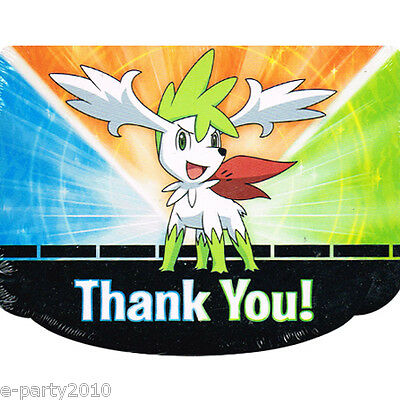 POKEMON Diamond and Pearl THANK YOU NOTES (8) ~ Birthday Party Supplies Cards - Pokemon Thank You