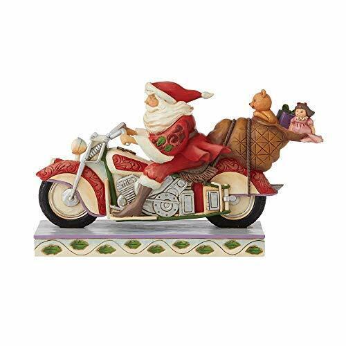 Jim Shore Heartwood Creek Christmas Santa Riding Motorcycle Figurine 6008883