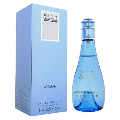 Cool Water by Davidoff EDT 3.4 oz Perfume for Women New In Box Cool Water Woman Edt