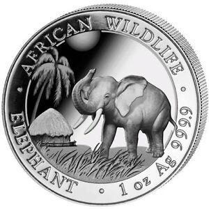 Pièce en argent/silver Somalian elephant 2017 1 oz .9999