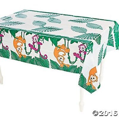 Jungle Table Decorations (Neon Monkey Zoo Jungle Table Cover Tablecloth Birthday Party)