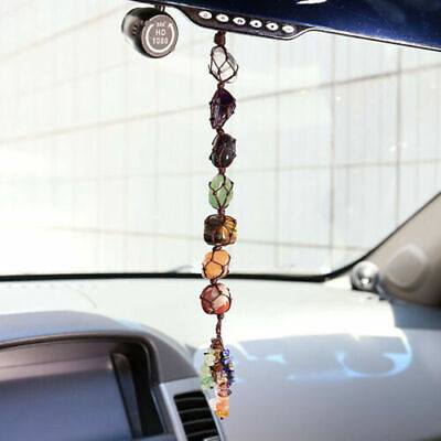 Chakra Healing Gemstone Tassel Lucky Feng Shui Car Home Decor Hanging Ornament ()