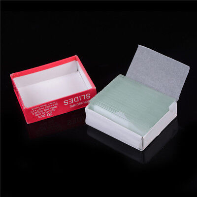 Professional 50pcs Blank Microscope Slides Accessories Cover Glass C9wixihhgedfi