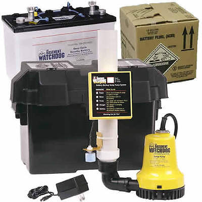 Basement Watchdog Emergency Backup Sump Pump 1000 Gph 10 Battery