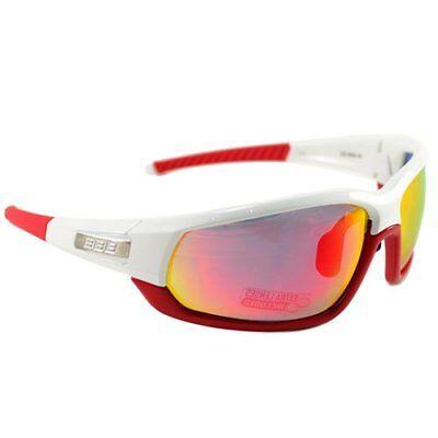 365d99c53a84 BBB ADAPT BSG-45 Cycling Sport Sunglass , White x Red