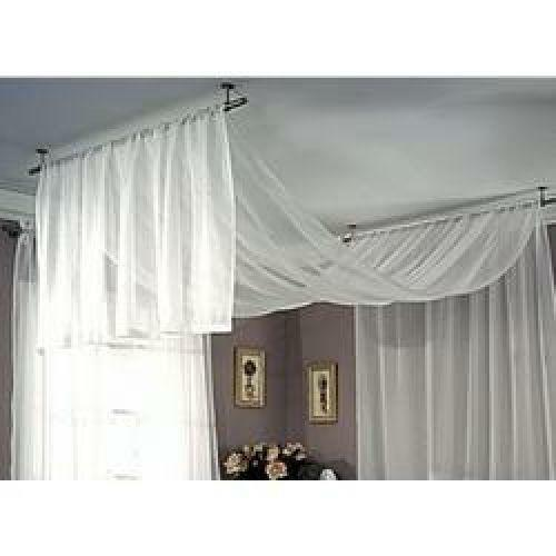 Ceiling Mount Curtain Rods Ebay