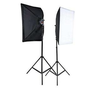 Photo Video Continuous Lighting Softbox Kit 900W - New