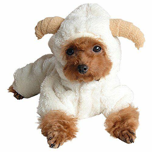 Cute Sheep Cosplay Fleece Warm Small Pet Dog Coats Sweaters Hooded Puppy Apparel