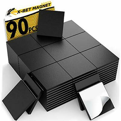 Magnetic Squares - Flexible Magnetic Sheet Of 90 Self Adhesive Magnetic Squares