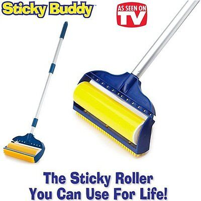 """Jumbo Sticky Buddy - Reusable Washable Clothes Lint Pet Hair Fluff Remover - 8"""""""
