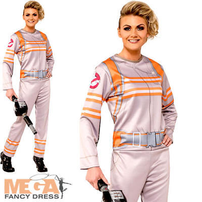 Ghostbusters Jumpsuit Ladies Fancy Dress Halloween Ghost Buster Adults Costume