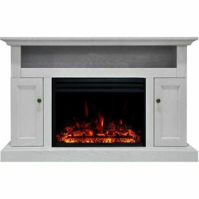 """Cambridge Sorrento Electric Fireplace Heater with 47"""" White"""