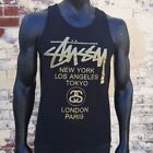 Stussy Tank Tops 100% Cotton T-Shirts for Men
