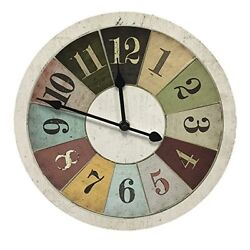 Better Homes & Gardens Wall Clock Vintage Weathered Segmented 11 Inches