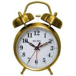 NEW Westclox 70010G CLASSIC QUARTZ Big Ben Twin Bell Alarm Clock GOLD 5691381