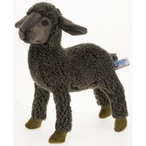 """Hansa Black Sheep Kid Plush Toy 11"""" H"""