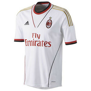 adidas-AC-Milan-Italy-2013-2014-Away-Soccer-Jersey-Brand-New-White-Gold